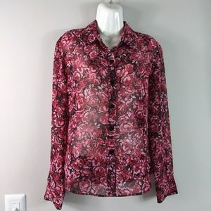 Finity Top Buttons Down Shirt Size XS